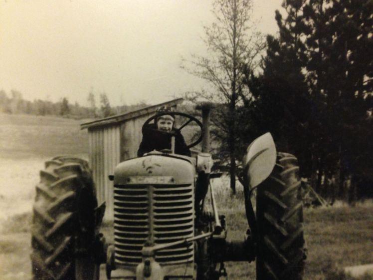 Janaki on tractor