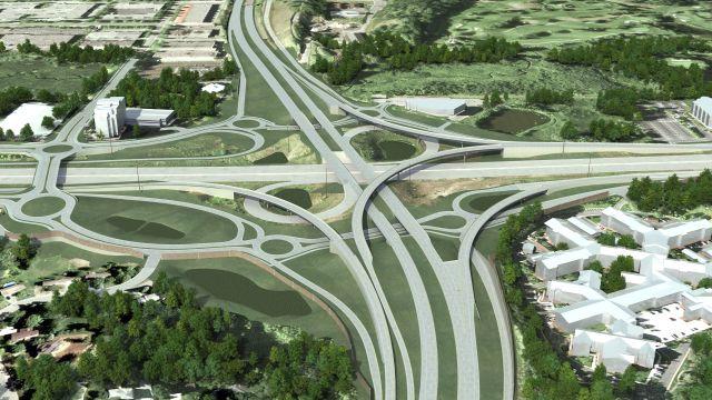 Rendering of proposed 494/169 interchange