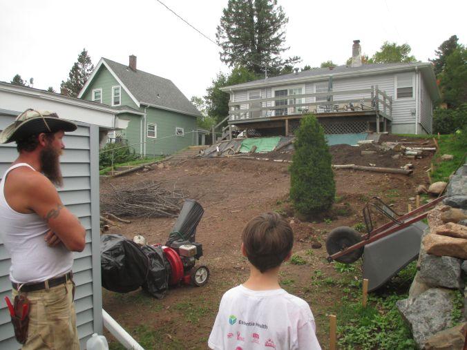 neighboring yard