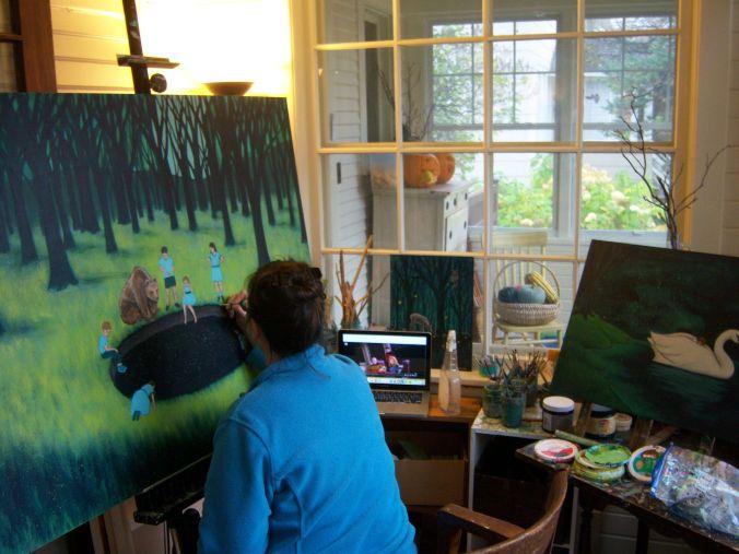 Shawna in studio